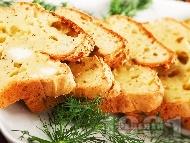 Рецепта Пухкав солен кекс със сирене, заквасена сметана и копър